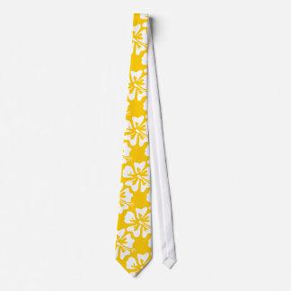 Lazo amarillo de la flor de la hawaiana para el corbata