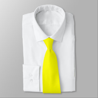 Lazo amarillo del color corbata