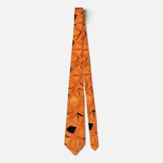 Lazo anaranjado metálico brillante de los espejos corbata