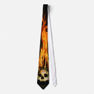 Lazo ardiente del cráneo corbata