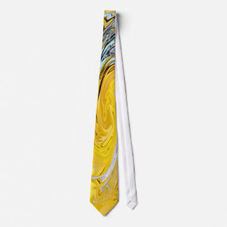 Lazo azul blanco amarillo del remolino corbatas personalizadas