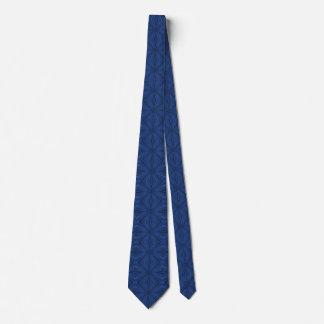 Lazo azul de la impresión del diamante corbata personalizada