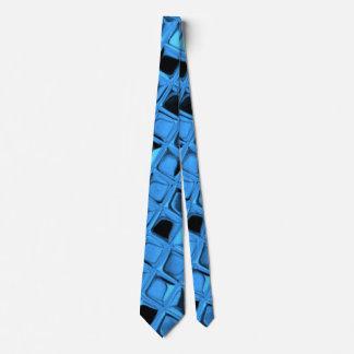 Lazo azul metálico brillante de los espejos del corbatas personalizadas