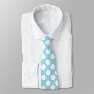 Lazo azul y blanco del lunar corbatas personalizadas