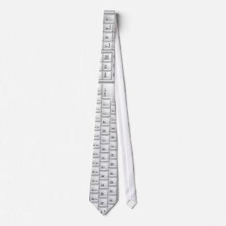 Lazo blanco del teclado del ordenador corbata personalizada