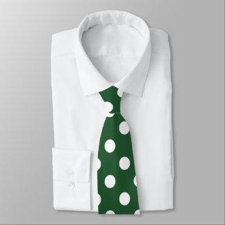 Lazo blanco verde del modelo de lunar corbatas