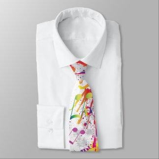 Lazo brillante colorido alegre de las notas de la corbatas personalizadas