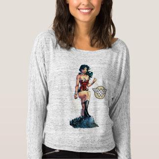Lazo conmovedor de la Mujer Maravilla encima de la Camiseta