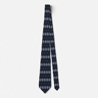 Lazo de la impresión del diamante negro corbata personalizada
