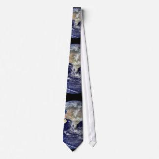 Lazo de la tierra del planeta corbata personalizada