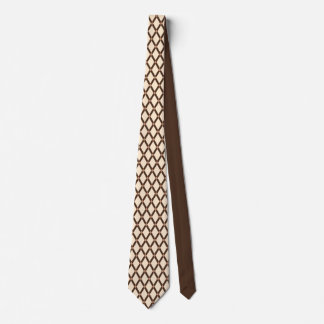 Lazo de los marcos de Diamante-Brown de la Corbata