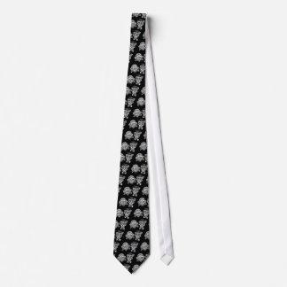 Lazo de los pares de los cráneos del azúcar corbata personalizada