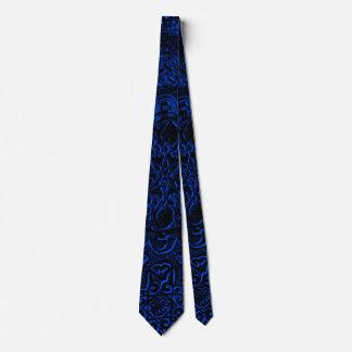 Lazo de Lotus del demonio azul de los hombres Corbata Personalizada
