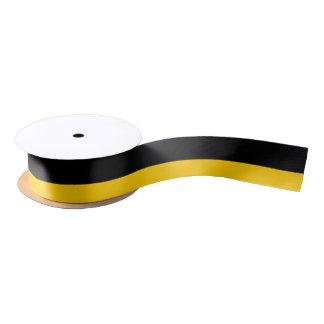 """Lazo De Raso Amarillo negro y de oro 1,5"""" de par en par cinta"""