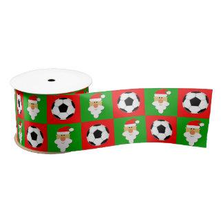 Lazo De Raso Balones de fútbol y cinta linda del navidad de