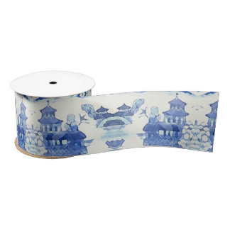 Lazo De Raso Cinta azul de la pagoda por Redux121DesignStudio