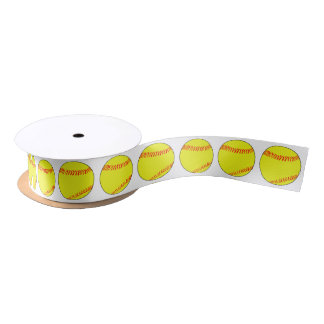 Lazo De Raso Cinta de embalaje decorativa del softball
