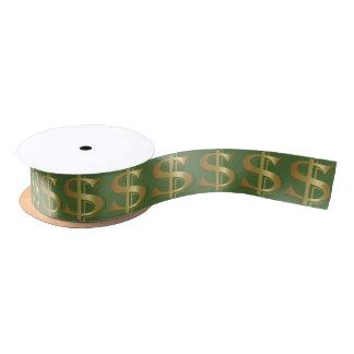 Lazo De Raso Cinta de oro gigante de la muestra de dólar