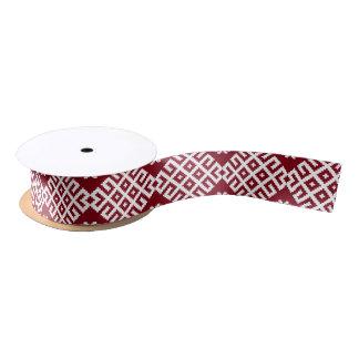 Lazo De Raso Diseño letón báltico tradicional rojo del modelo