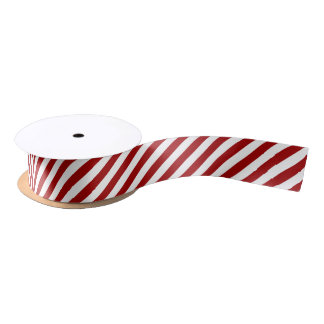 Lazo De Raso El bastón de caramelo del navidad raya la cinta