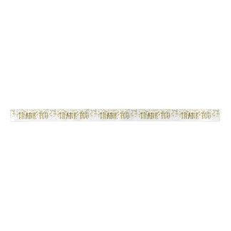 Lazo De Raso La lentejuela de oro del brillo le agradece cinta