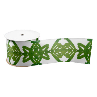 Lazo De Raso Modelo verde y blanco del remolino del cepillo de