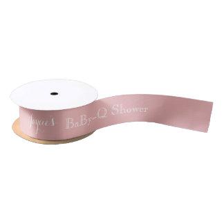 Lazo De Raso Nombre rosado del personalizable de la cinta de la