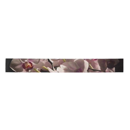 Lazo De Raso Orquídeas rosadas