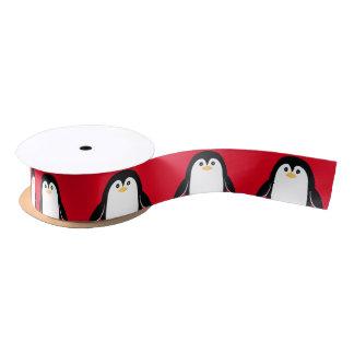 Lazo De Raso Pingüino lindo del bebé