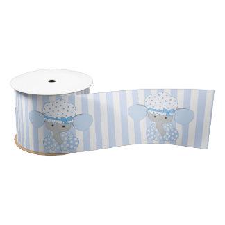 Lazo De Raso Rayas azules del elefante w/blue del bebé infantil
