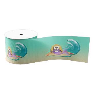 Lazo De Tela Gruesa búho de la sirena - cinta