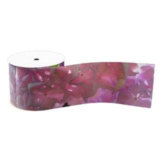 Lazo De Tela Gruesa Hydrangeas rosados radiantees
