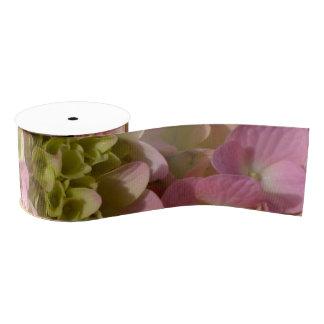Lazo De Tela Gruesa Hydrangeas rosados y poner crema