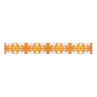 Lazo De Tela Gruesa Modelo blanco amarillo-naranja del remolino del
