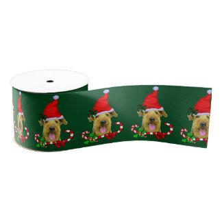 Lazo De Tela Gruesa Navidad de Airedale Terrier feliz