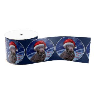 Lazo De Tela Gruesa Navidad del labrador retriever del chocolate