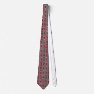 Lazo del botón rojo del estudio 1 corbata