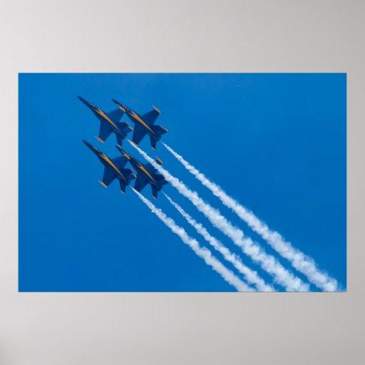 Lazo del diamante de los ángeles azules posters