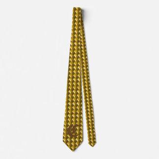 Lazo del diamante del oro corbata personalizada