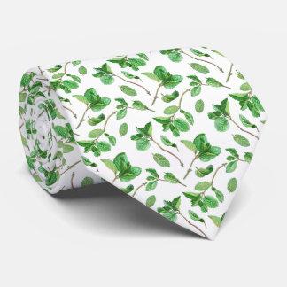 Lazo del modelo de las hojas de menta corbata personalizada