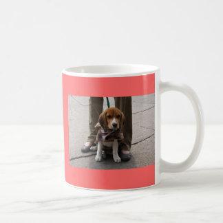 Lazo del perrito del beagle taza
