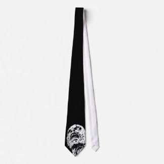 Lazo del zombi en negro corbata personalizada