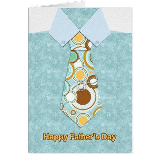 Lazo en la camisa de mármol azul, tarjeta del día