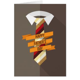 Lazo feliz del día de padre tarjeta de felicitación