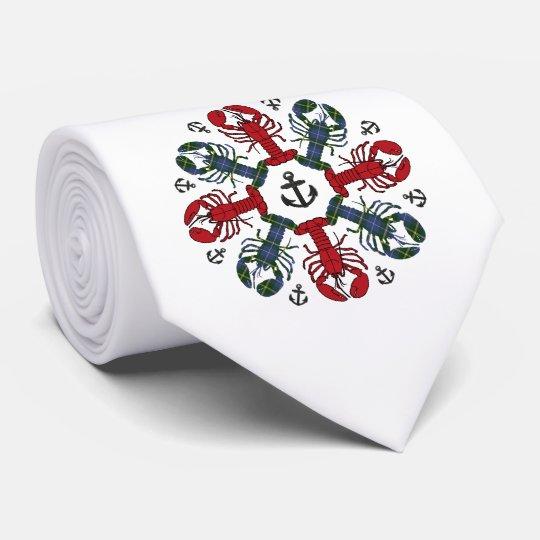 Lazo feo del ancla N.S.Christmas del copo de nieve Corbata Personalizada