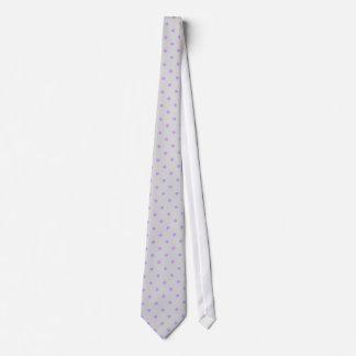 Lazo gris con los puntos de la púrpura de la polca corbata personalizada