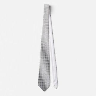 Lazo gris con los puntos del negro de la polca corbata