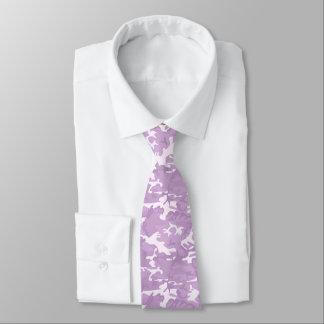Lazo modelado Camo púrpura y rosado Corbatas Personalizadas