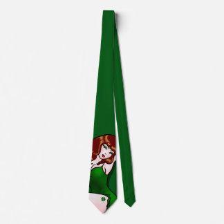Lazo modelo irlandés del chica del lazo 50s del corbata personalizada