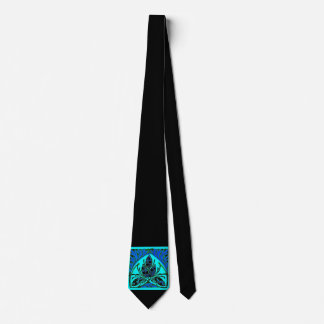 Lazo negro del verde azul de la hoja floral del corbatas personalizadas